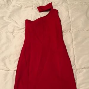LULUS Red Dress with Choker